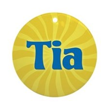 Tia Sunburst Ornament (Round)