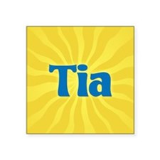 "Tia Sunburst Square Sticker 3"" x 3"""