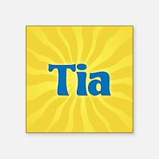 "Tia Sunburst Square Sticker 3"" x 3"""