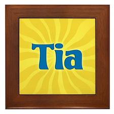 Tia Sunburst Framed Tile