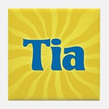 Tia Sunburst Tile Coaster