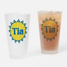 Tia Sunburst Drinking Glass