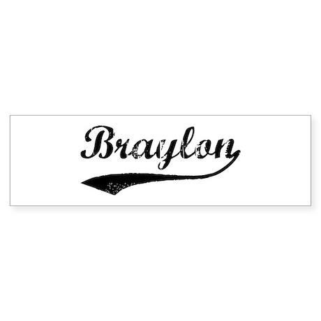 Vintage: Braylon Bumper Sticker