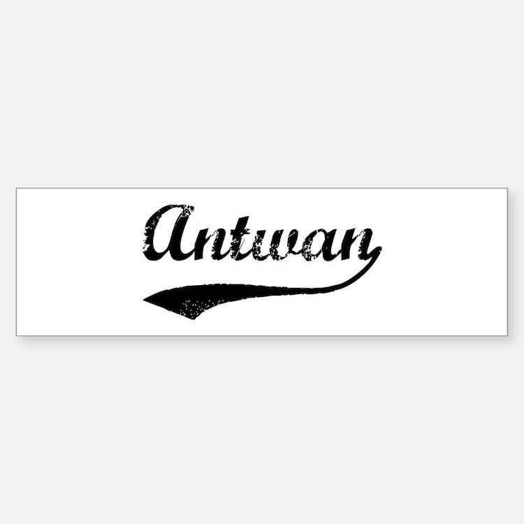 Vintage: Antwan Bumper Bumper Bumper Sticker