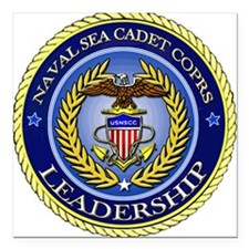 NAVAL SEA CADET CORPS - LEADERSHIP Square Car Magn