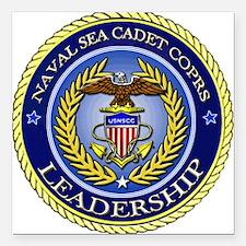 NAVAL SEA CADET CORPS - LEADERSHIP Square Car Magn