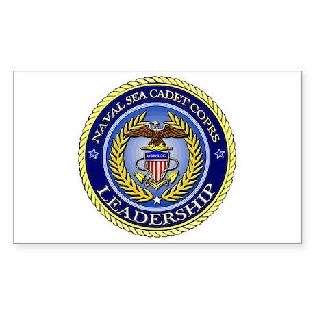 NAVAL SEA CADET CORPS - LEADERSHIP Sticker (Rectan