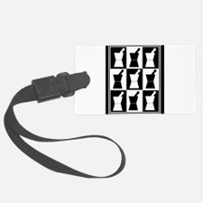 pharmacist blanket popart bw.PNG Luggage Tag