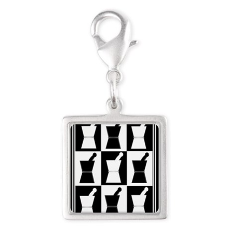 pharmacist blanket popart bw.PNG Silver Square Cha