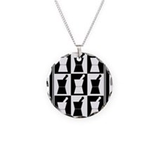 pharmacist blanket popart bw.PNG Necklace