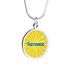 Terrence Sunburst Silver Round Necklace