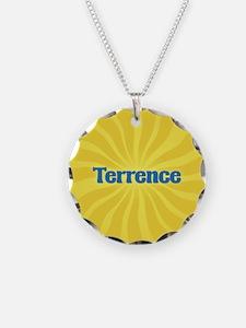 Terrence Sunburst Necklace Circle Charm