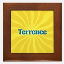 Terrence Sunburst Framed Tile