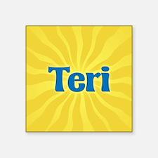 "Teri Sunburst Square Sticker 3"" x 3"""