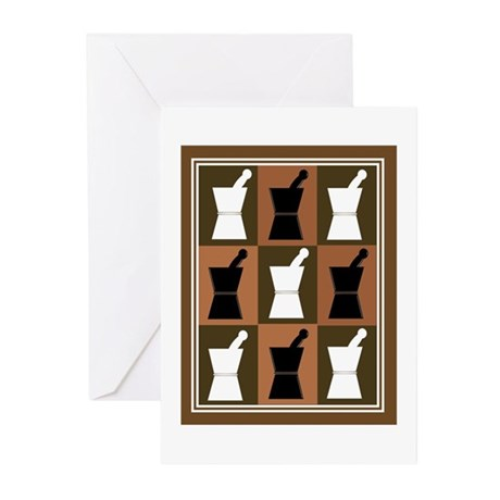 pharmacist blanket popart brown.PNG Greeting Cards
