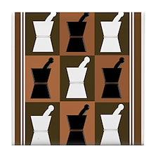 pharmacist blanket popart brown.PNG Tile Coaster