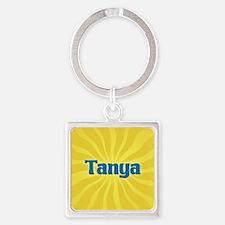 Tanya Sunburst Square Keychain