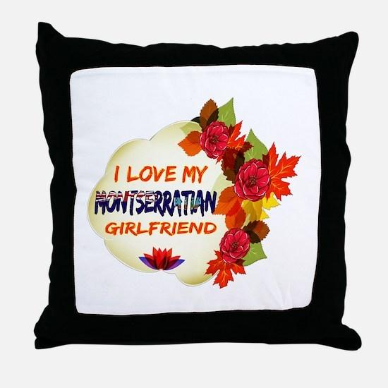 Montserratian Girlfriend Valentine design Throw Pi