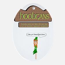 Hooligans Pub - No Shenanigans Ornament (Oval)