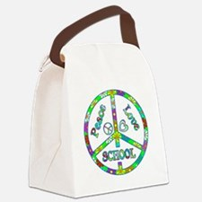 Peace Love School Canvas Lunch Bag