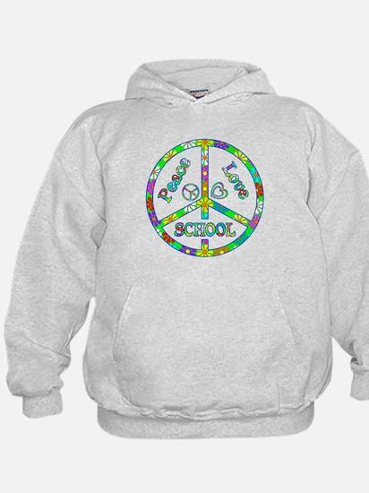 Peace Love School Hoody