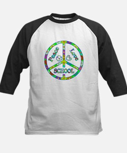 Peace Love School Kids Baseball Jersey