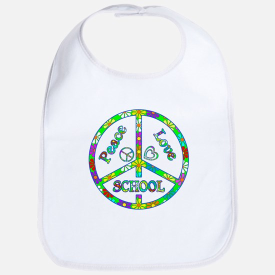 Peace Love School Bib