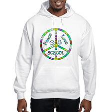 Peace Love School Hoodie
