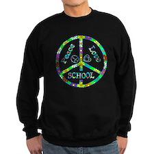 Peace Love School Sweatshirt