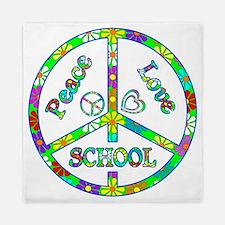 Peace Love School Queen Duvet