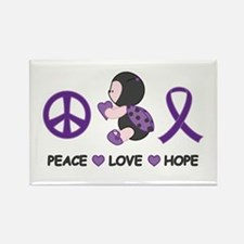 Ladybug Peace Love Hope Rectangle Magnet