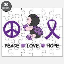 Ladybug Peace Love Hope Puzzle