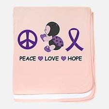 Ladybug Peace Love Hope baby blanket