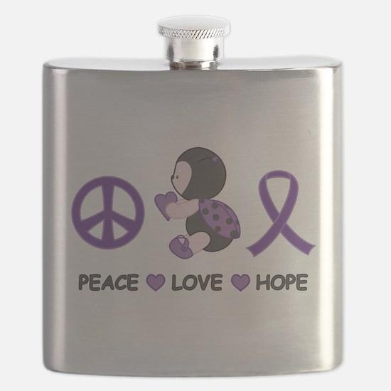 Ladybug Peace Love Hope Flask
