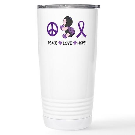 Ladybug Peace Love Hope Stainless Steel Travel Mug