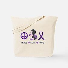 Ladybug Peace Love Hope Tote Bag