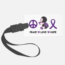 Ladybug Peace Love Hope Luggage Tag