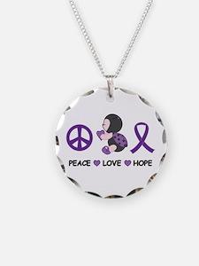 Ladybug Peace Love Hope Necklace