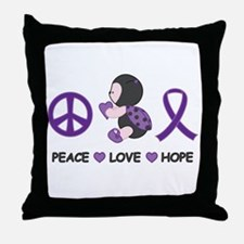 Ladybug Peace Love Hope Throw Pillow