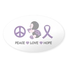 Ladybug Peace Love Hope Decal