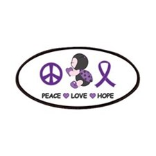 Ladybug Peace Love Hope Patches