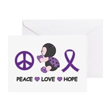 Ladybug Peace Love Hope Greeting Card