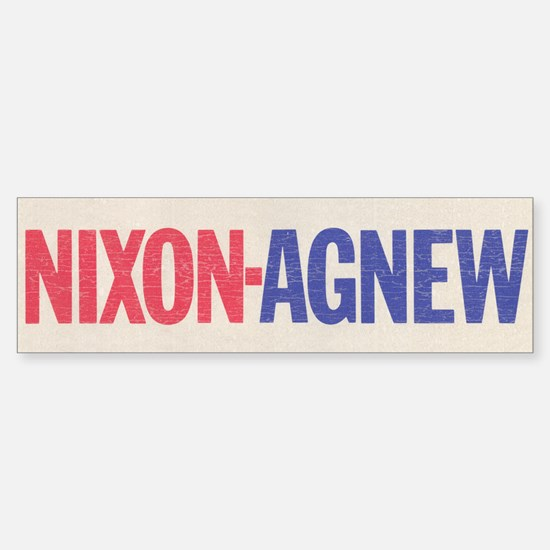 Nixon Agnew Bumper Bumper Bumper Sticker