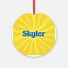 Skyler Sunburst Ornament (Round)