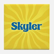 Skyler Sunburst Tile Coaster