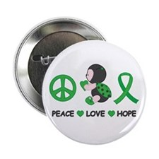 "Ladybug Peace Love Hope 2.25"" Button"