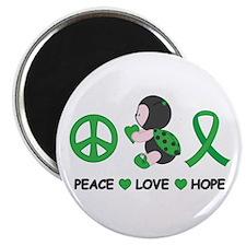 "Ladybug Peace Love Hope 2.25"" Magnet (10 pack)"