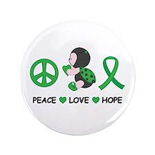 "Ladybug Peace Love Hope 3.5"" Button"
