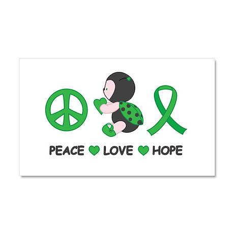 Ladybug Peace Love Hope Car Magnet 20 x 12