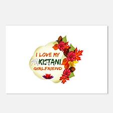 Pakistani Girlfriend Valentine design Postcards (P